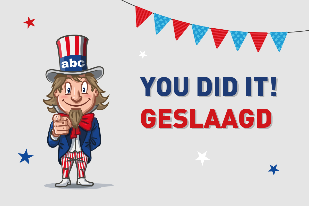 You did it, geslaagd!